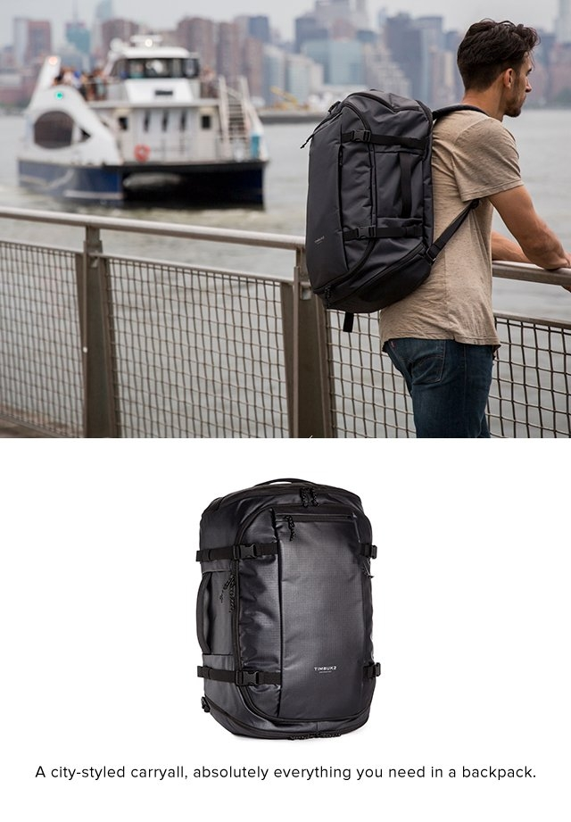 A city-styled carryall, absolutely everything you need in a backpack.