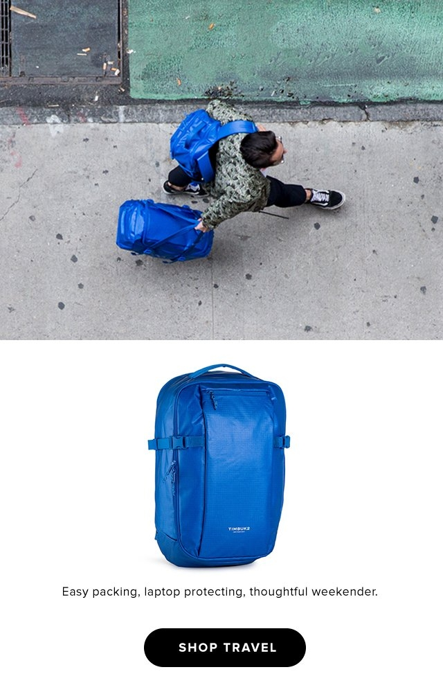 Easy packing, laptop protecting, thoughtful weekender.