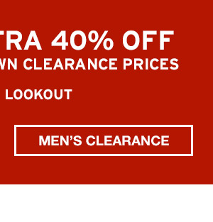 TAKE AN EXTRA 40% OFF | SHOP MEN'S CLEARANCE