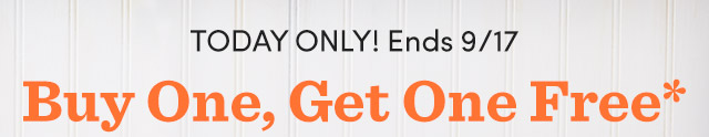 Today Only! Ends 9/17 BOGO* All Boxed Entertaining Sets*