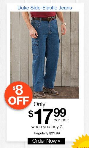 Duke Side-Elastic Jeans