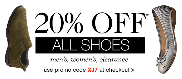 20% OFF ALL SHOES