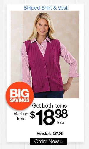 Striped Shirt & Vest