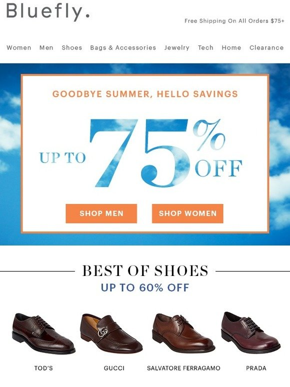 b09a5911871 Bluefly.com: BEST OF SALE: Up To 70% Off Gucci, Salvatore Ferragamo, Canali  & More | Milled