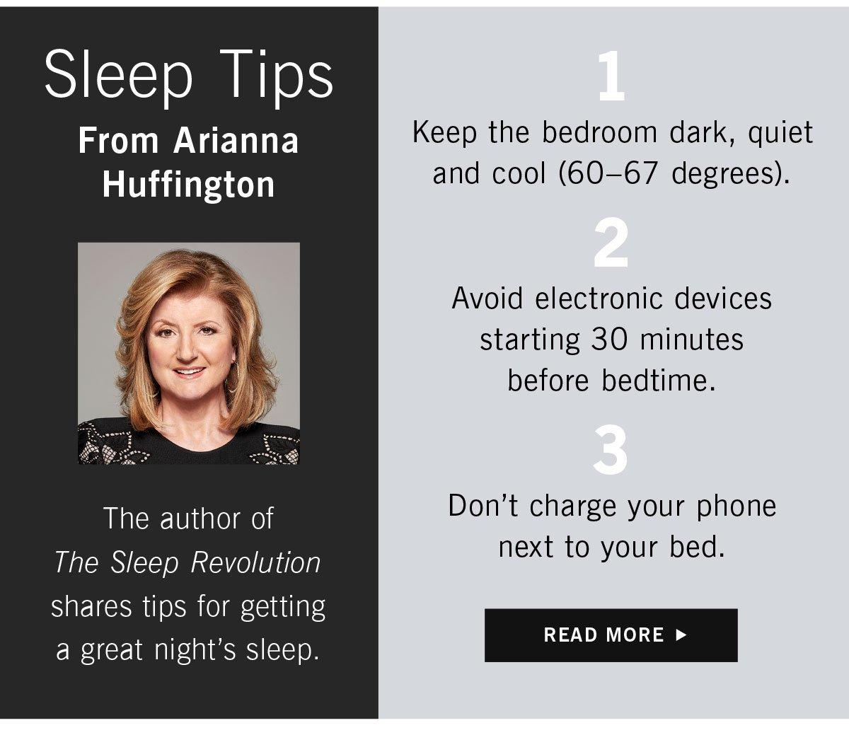 Arianna Huffington Sleep Tips