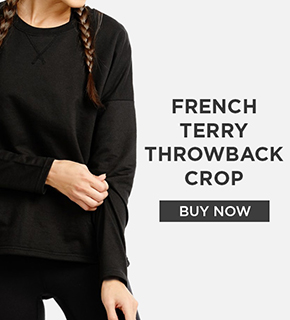 French Terry Throwback Crop