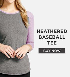 Heathered Baseball Tee