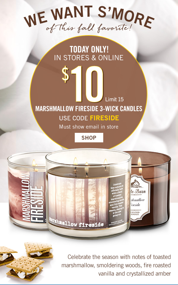 Bath & Body Works: It\'s an invitation (but only for TODAY!)   Milled
