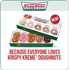 Irresistible Krispy Kreme Doughnuts are now available as Jelly Belly jelly beans!