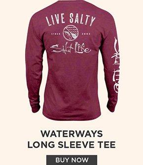 Waterways Salt Wash Long Sleeve Pocket Tee