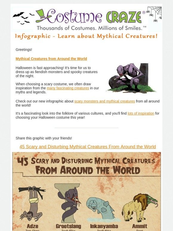Costume Craze: Mythical Creatures from Around the World | Milled