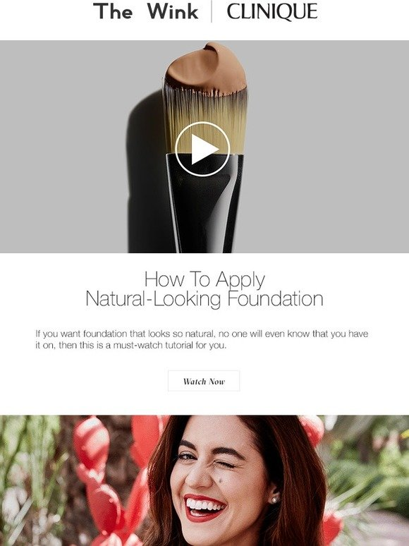 Clinique: Watch Now: How To Apply Natural-Looking Foundation | Milled