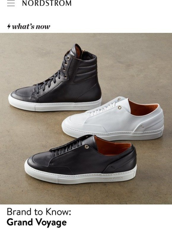75db157ad69 Nordstrom: Introducing Grand Voyage Italian-made sneakers | Earn triple  points September 20-24 | Milled