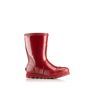 A short rain boot.