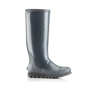 A tall rain boot.