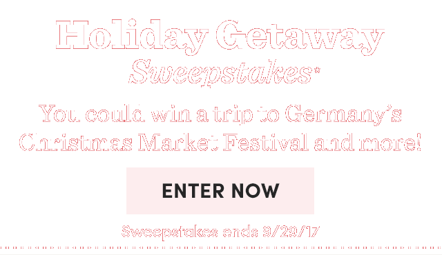 Holiday Getaway Sweepstakes* Win A Trip For 2 To Munich.