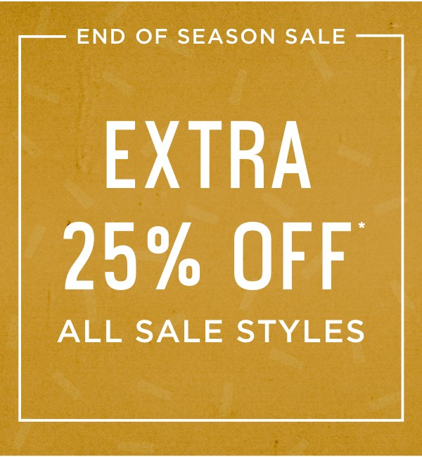 Extra 25% Off All Sale Styles