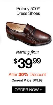 Botany 500 Kidskin Leather Dress Shoes