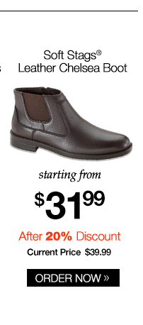 Soft Stags Leather Chelsea Boot