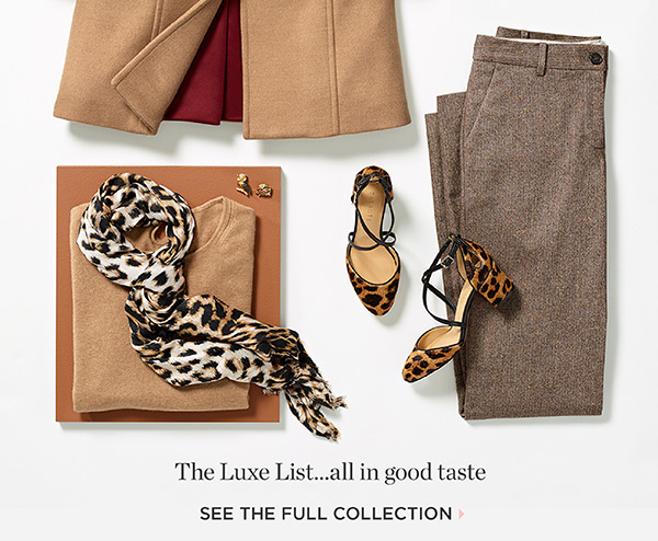 The Luxe List...all in good taste. Shop The Full Collection