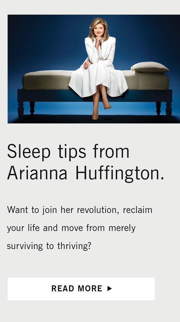 Sleep tips from Arianna Huffington