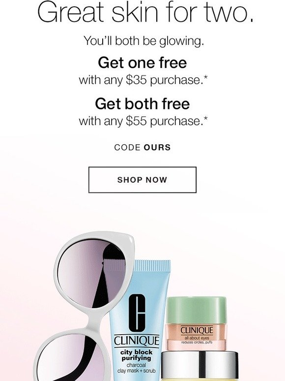 Clinique: Fall kits for two. FREE with purchase. | Milled