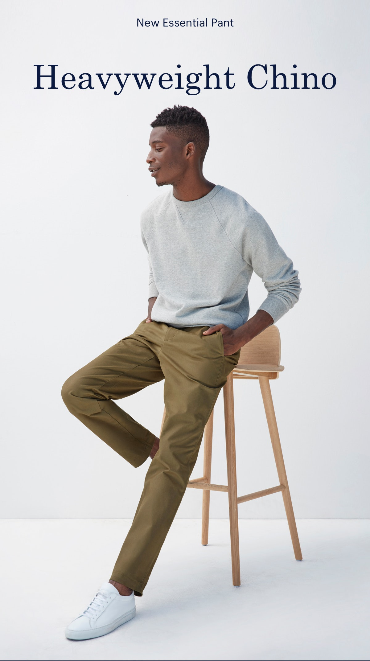 New Essential Pant. Heavyweight Chino