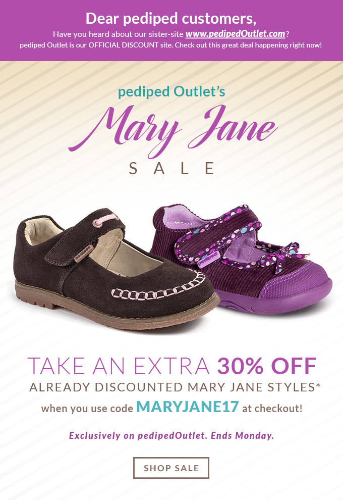 pediped Outlet's Mary Jane Sale