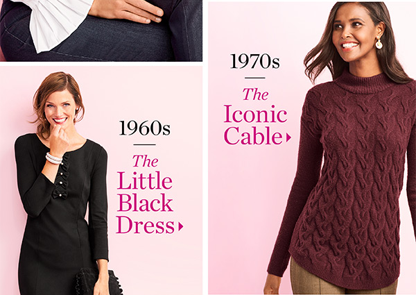 The Collection. 1960s The Little Black Dress. 1970s The Iconic Cable.