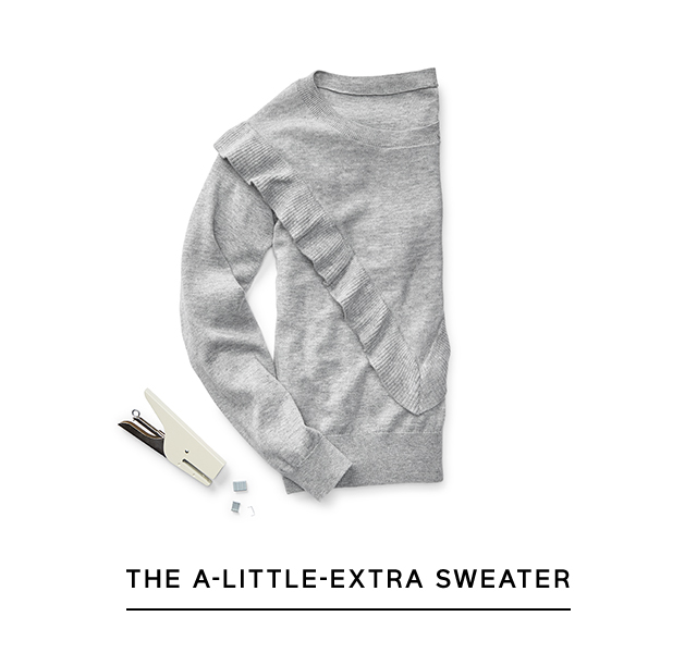 THE A-LITTLE-EXTRA SWEATER