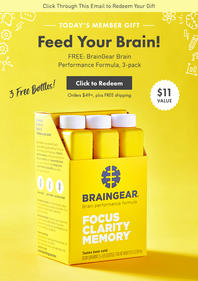 Thrive Market: FREE gift: Your brain will thank you for this ($11 ...
