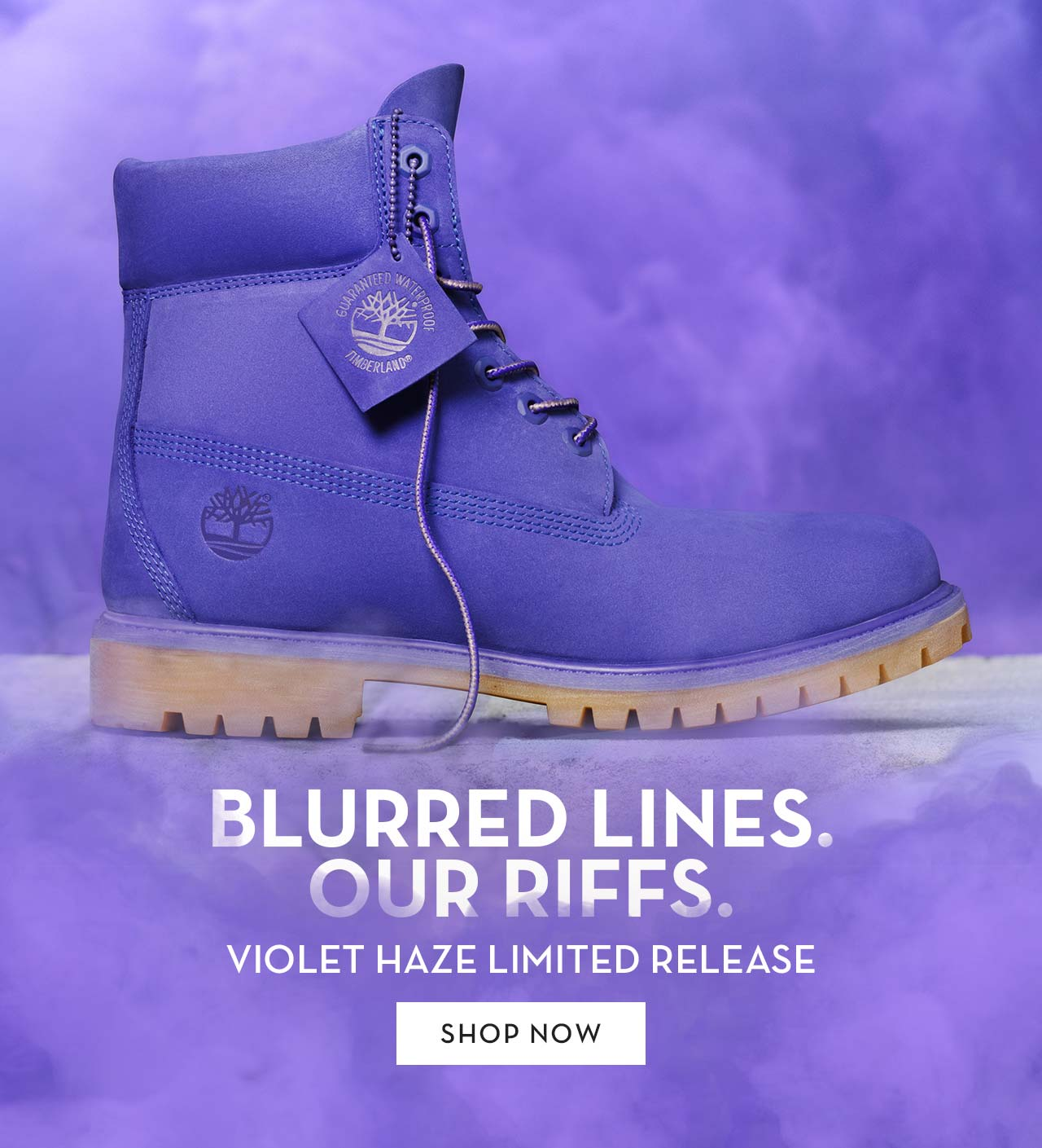 Blurred Lines. Our Riffs. Violet Haze Limited Release Shop Now