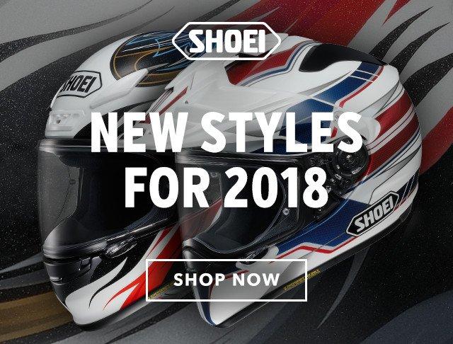 revzilla just arrived shoei 2018 helmets milled. Black Bedroom Furniture Sets. Home Design Ideas
