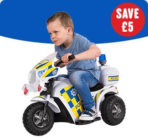 Police 6V Motorbike Ride-On