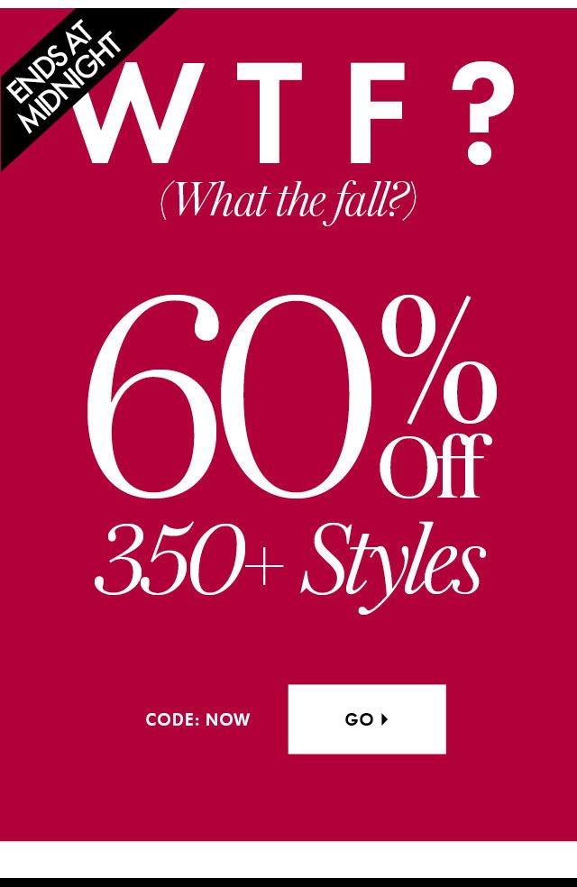 60% Off 350+ Styles PM Hero