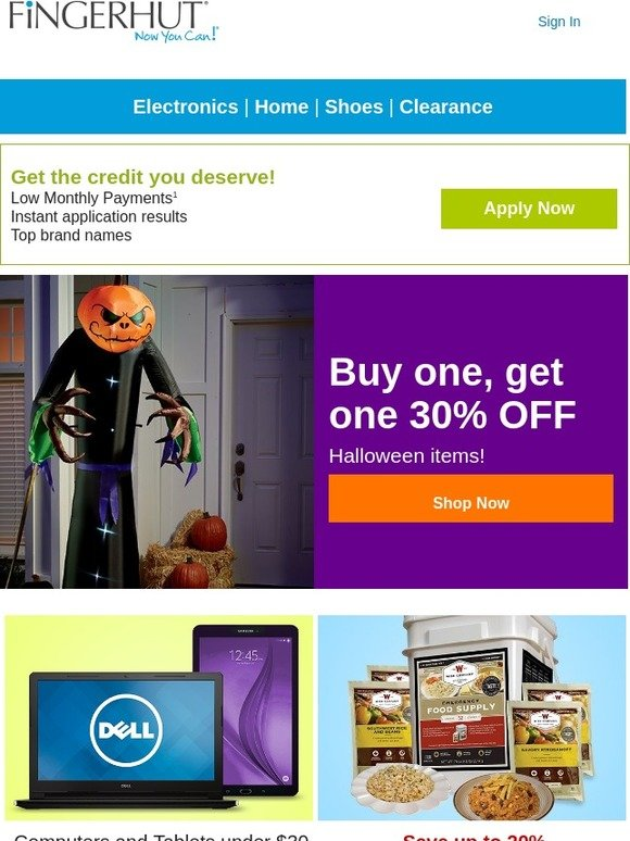 fingerhut fingerhut buy one get one 30 off halloween items milled