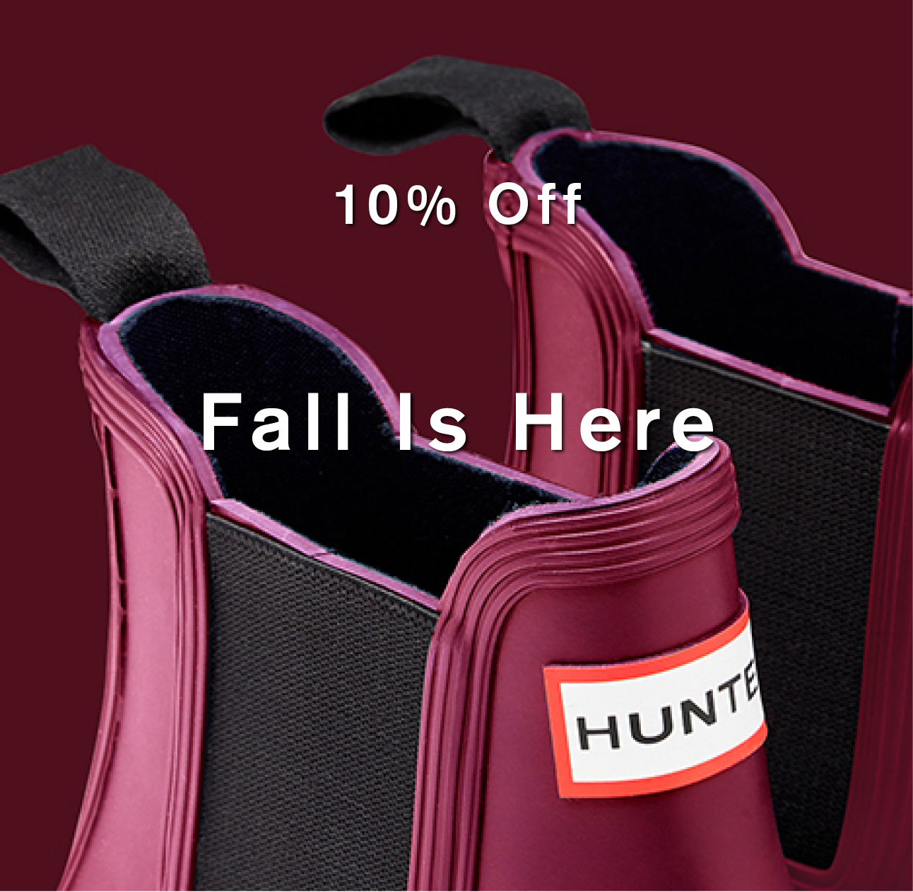 10% off Fall is Here