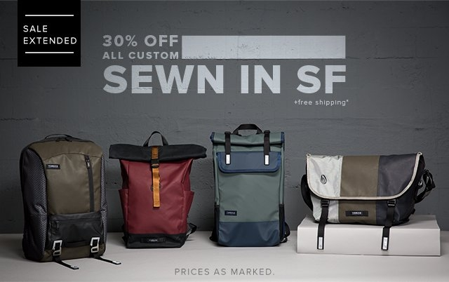 30% OFF All Custom | Sewn in SF | + Free Shipping*