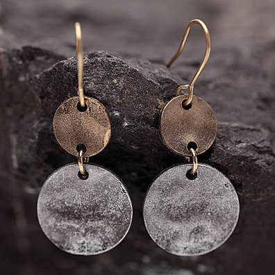 BOGO Hammered Disc Earrings...