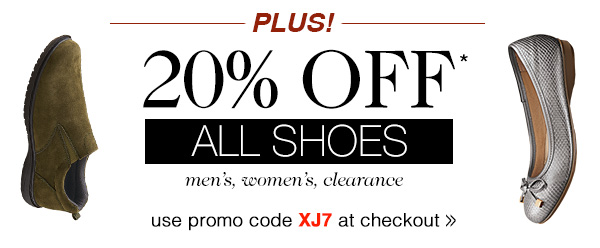 20% OFF ALL SHOES!