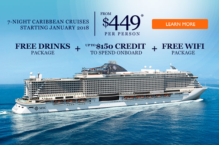 MSC Cruises Cruise The Hottest Ship At Sea MSC SEASIDE From - Free wifi on cruise ships