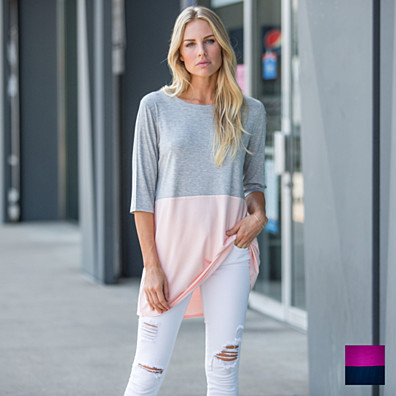 Duo Color Block Top