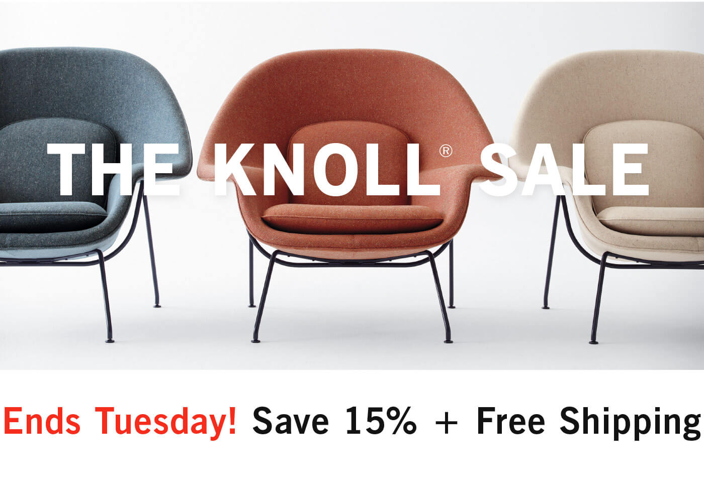 The Knoll Sale Ends Tuesday