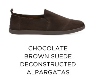 Chocolate Brown Suede Deconstructed Alpargatas