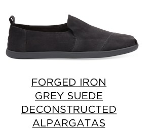 Forged Iron Grey Suede Deconstructed Alpargatas