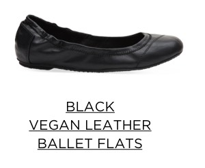 Black Vegan Leather Ballet Flats