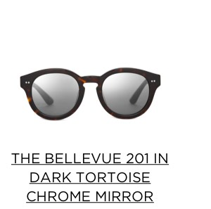 The Bellevue 201 in Dark Tortoise Chrome Mirror