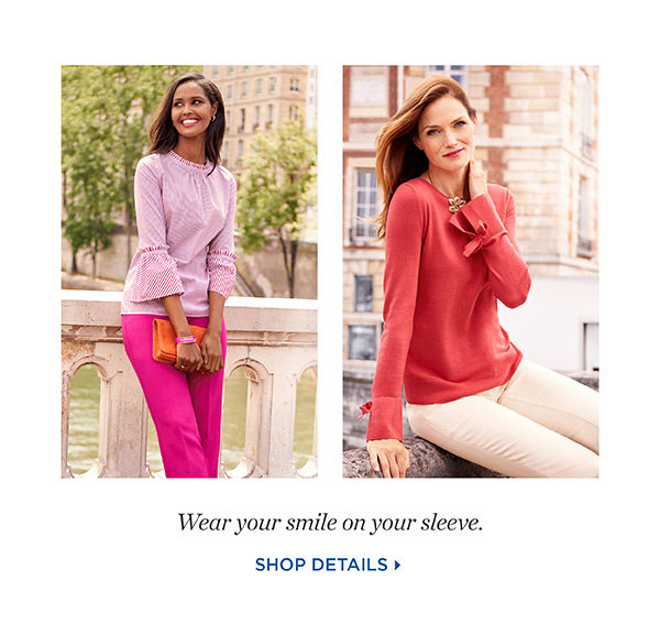 Wear your smile on your sleeve. Shop Details