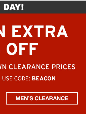TAKE AN EXTRA 50% OFF | SHOP MEN'S CLEARANCE