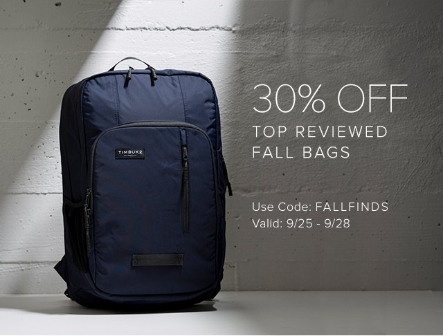 30% OFF Top Reviewed Fall Bags | Use Code: FALLFINDS | Valid: 9/22 - 9/24